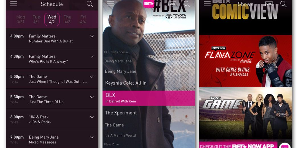 BET brings live broadcasts to its iOS and Android apps (via @engadget)