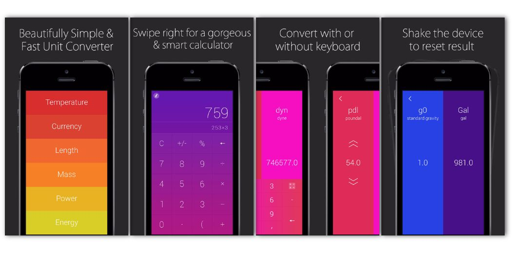 Free Sale: Convoto - convert units and currencies with a simple swipe of the finger…