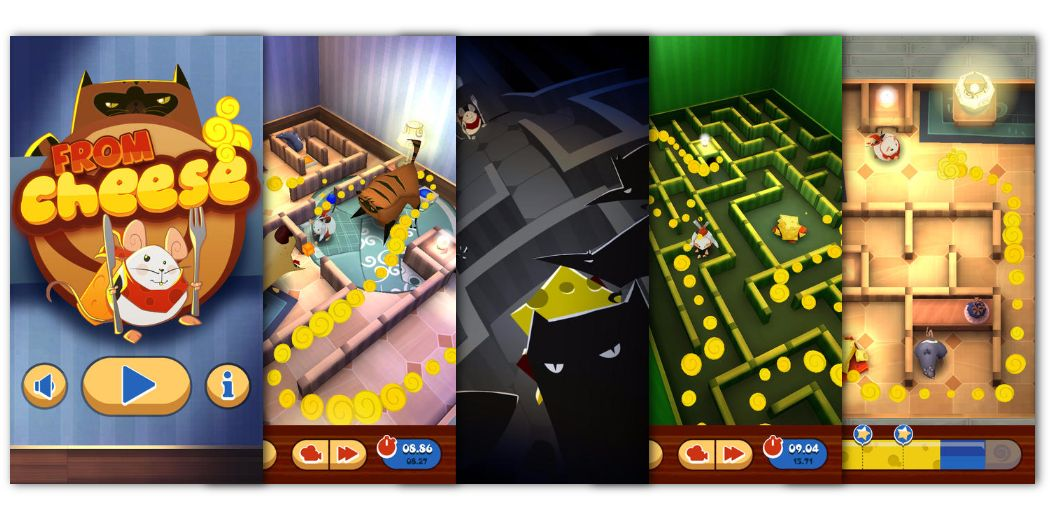 Free Today : From Cheese - logic puzzle fun with a mouse, some cheese, and mazes