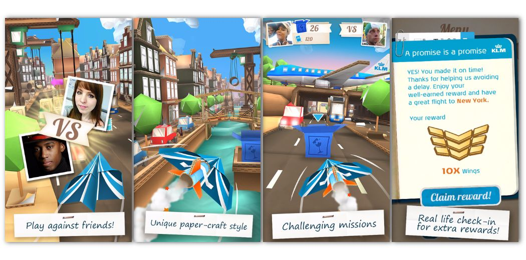 Navigate your paper airplane through Amsterdam in KLM's Jets (via @appadvice)