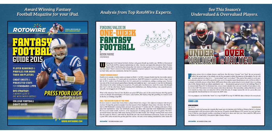 RotoWire Fantasy Football Guide 2015 now available for the iPad (via @TheiPadGuide)