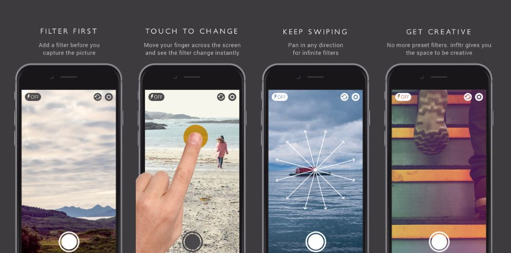 Apply cool photo filters before you shoot with Infltr (via @appadvice)