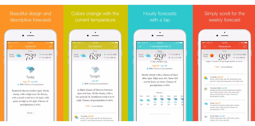 Stow away the clutter and use Weather Simple (via @appadvice)