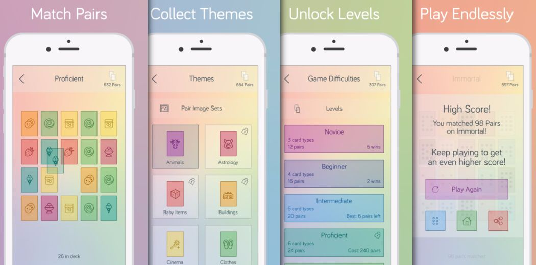 Match cards together carefully in Pair Away (via @appadvice)