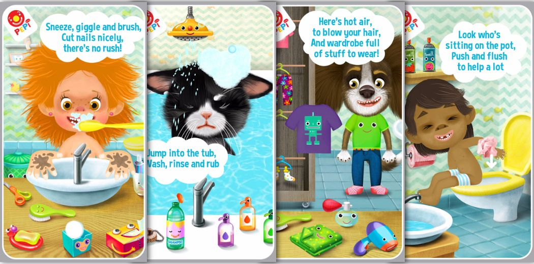 "Hey kids! ""Pepi Bath 2"" is on sale for free today. Have fun!"