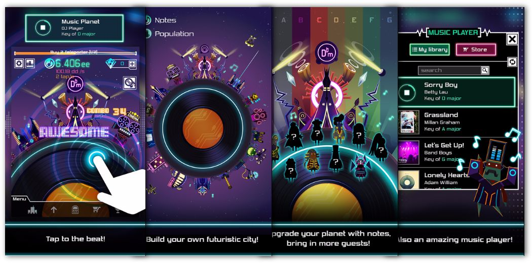 Rhythm Game Groove Planet Now Available - Build a city with the power of music