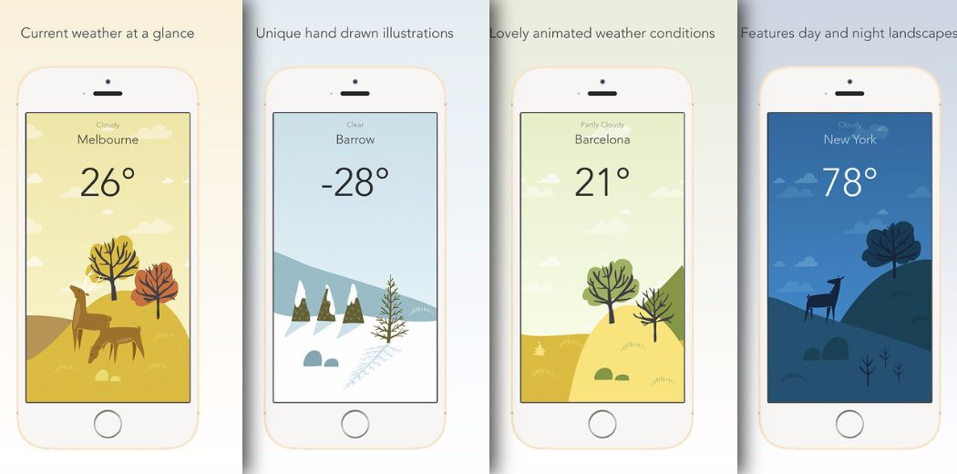 See the current conditions with lovely art in Wild Weather (via @appadvice)