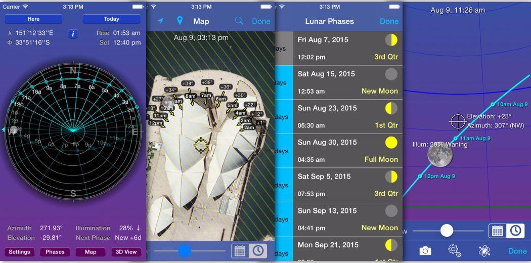 Moon Seeker for iPhone: Lunar Calendar & 3D Path Viewer (via @iphoneness)