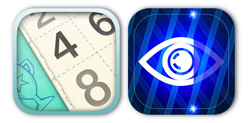 2 Puzzle games on sale free for iOS: Numberama 2 and Eyeser