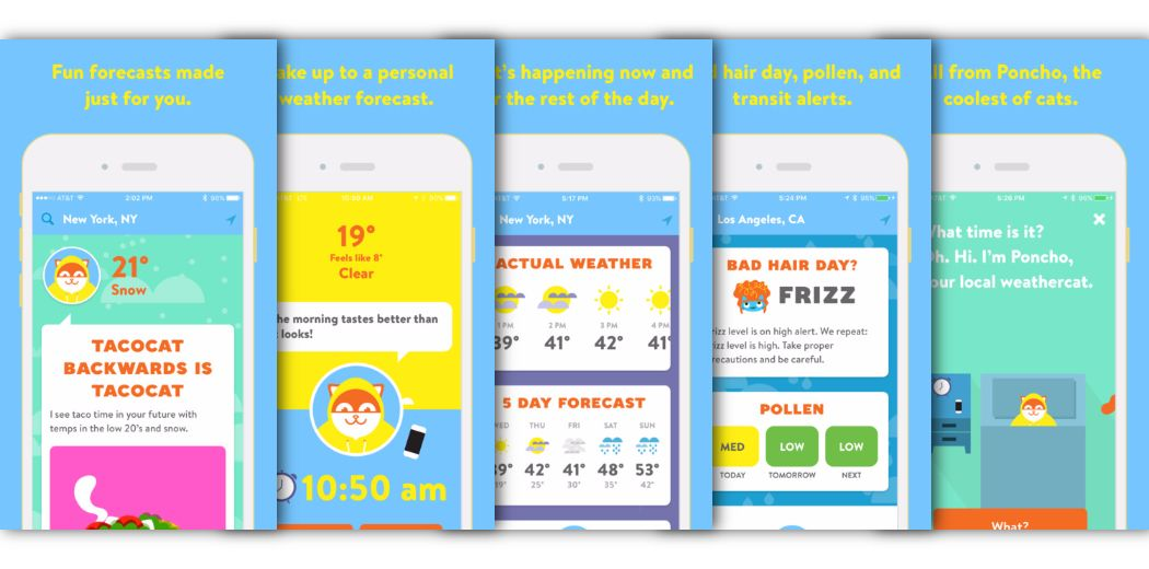 Get your weather from Poncho, the coolest cat in town (via @appadvice)