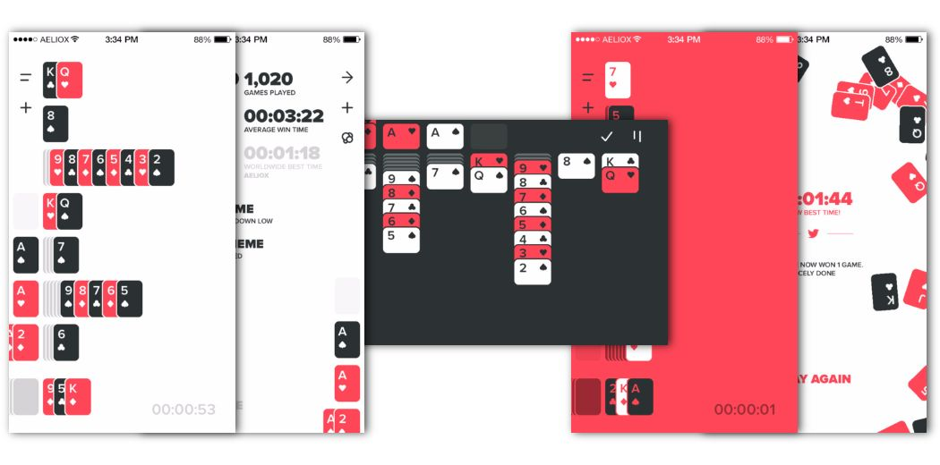 Solitaere: A fresh twist on the classic solo card game [free] (via @appsaga)