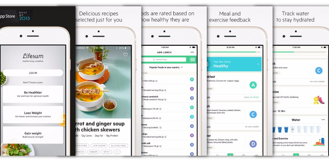 """Lifesum : """"Get healthy with a little extra help from this easy to use app"""" (via @macnn)"""