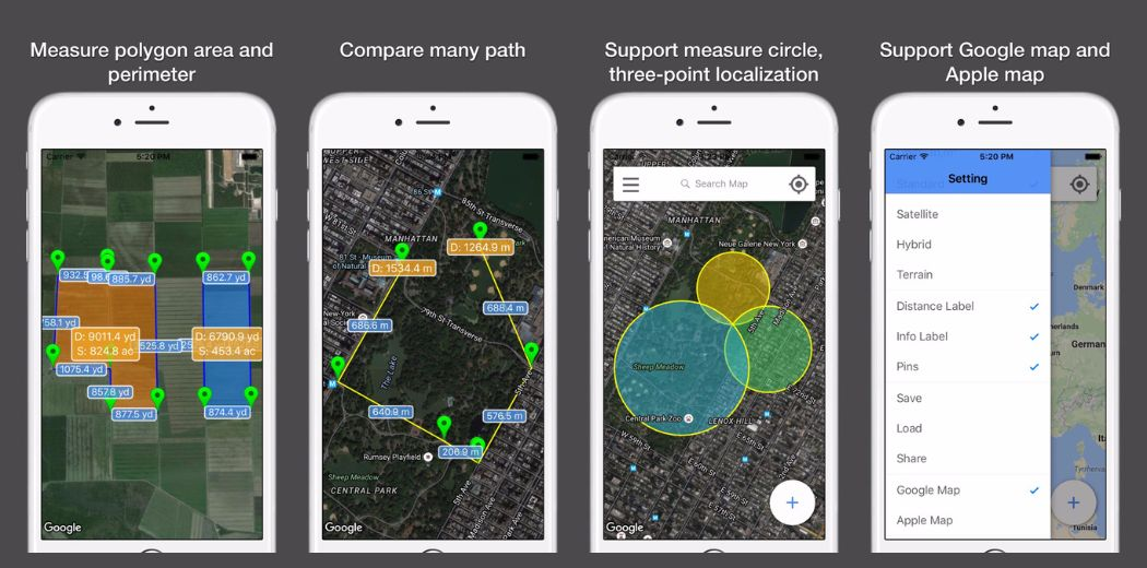 """FREE today: Measure map distances easily and accurately with """"Planimeter Pro"""""""