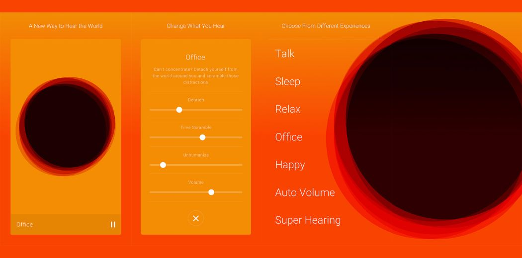 """""""Hear"""" - harmonizes sounds which helps you to be less distracted and stressed. [iPhone/free]"""