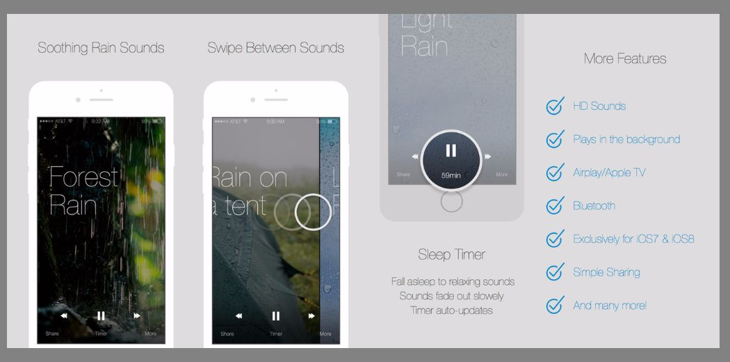 Free Today Only - Relax Rain - Designed with simplicity in mind